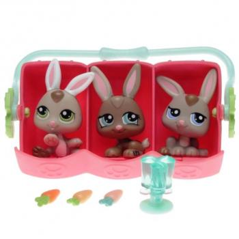 Littlest Pet Shop - Petriplets 93634 - Bunnies 1332, 1333, 1334