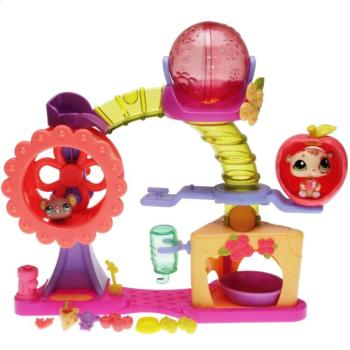 Littlest Pet Shop -  Playset - 24791 Hamster Playground - 1888 Hamster, 1889 Mouse