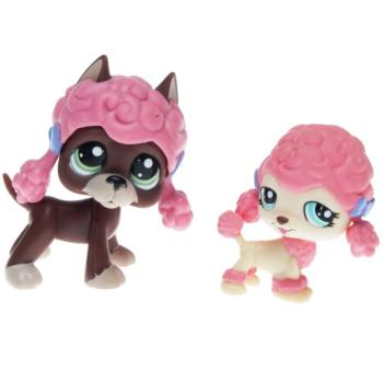 Littlest Pet Shop - Portable Pets - 1519 Great Dane, 1520 Puddle