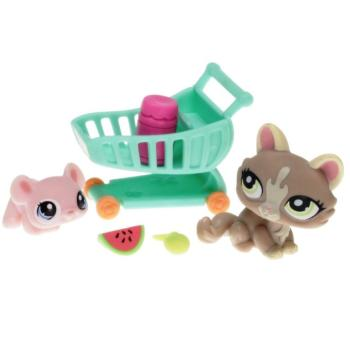 Littlest Pet Shop - Spring Pets 93707 - Kitten 1370, Mouse 1371