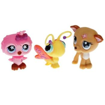 Littlest Pet Shop - Tubes 2008 Spring - 0496 Owl, 0497 Butterfly, 0498 Greyhound