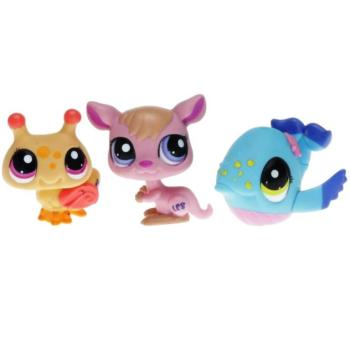 Littlest Pet Shop - Tubes 2010 25844 - 1912 Whale, 1913 Kangaroo, 1914 Bee