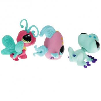Littlest Pet Shop - Tubes 2010 25845 - 1915 Angelfish, 1916 Frog, 1917 Butterfly