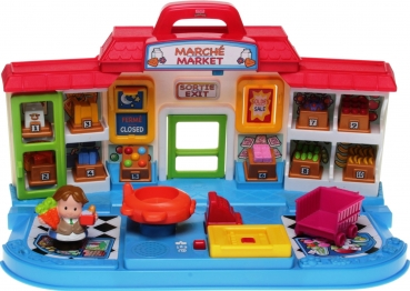 Fisher-Price Little People K6088 - Shop'n Learn Market Französisch/Englisch