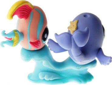 Littlest Pet Shop - Pet Pairs - 0643 Angelfish, 0644 Whale