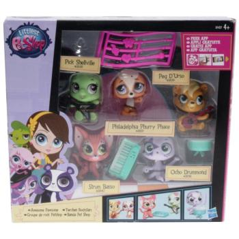 Littlest Pet Shop - B1427 - Multi Pet Pack Awesome Pawsome - 3836, 3837, 3838, 3839, 3840