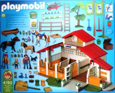playmobil 4190 moderner reiterhof decotoys. Black Bedroom Furniture Sets. Home Design Ideas
