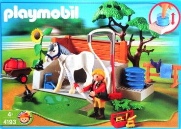 Playmobil 4193 reiterhof pferde waschplatz decotoys - Pferde playmobil ...