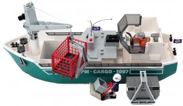 Playmobil Frachtschiff Mit Verladekran Decotoys