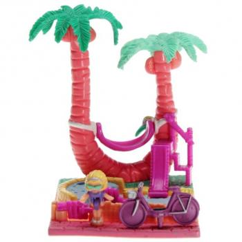 Polly Pocket Mini - 1994 - Pollyville - Palm Tree Playset