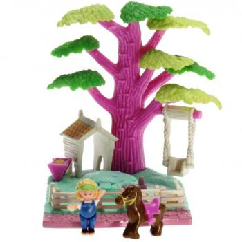 Polly Pocket Mini - 1994 - Pollyville - Shady Tree Bluebird Toys