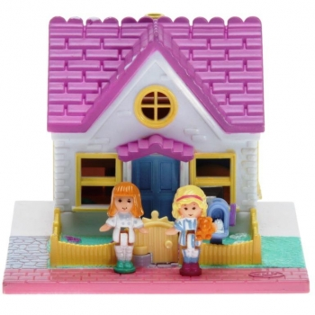 Polly Pocket Mini - 1993 - Pollyville - Cozy Cottage - Bluebird 940311