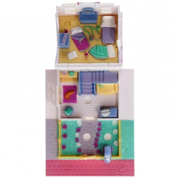 Polly Pocket Mini - 1993 - Pollyville - Cozy Cottage - Bluebird Toys 940311
