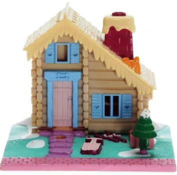 Polly Pocket Mini - 1993 - Pollyville - Ski Lodge brown - 940241