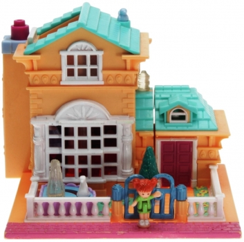 Polly Pocket Mini - 1994 - Pollyville - Light-up Hotel - Bluebird Toys 950301
