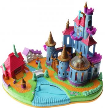 Polly Pocket Mini - 1997 - Disney - Belle Beauty and the Beast Castle