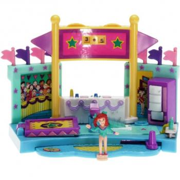 Polly Pocket Mini - 1999 - Gym Turnfest - Vault Mattel Toys 24845
