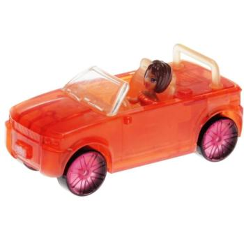 Polly Pocket Mini - 2007 - Polly Wheels Light Up 3 Glowin Pink Shani