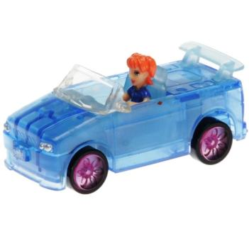 Polly Pocket Mini - 2007 - Polly Wheels Light Up 6 Nite Light Blue Lea