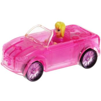 Polly Pocket Mini - 2007 - Polly Wheels Light Up 8 Red Radiance Polly