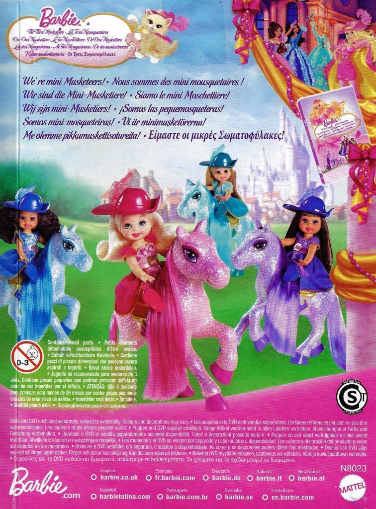 Barbie N8023 The Three Musketeers Mini Musketeers Doll Pink