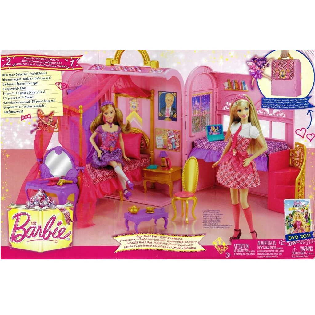 Cool Barbie V6823 Royal Bedroom For Two Download Free Architecture Designs Rallybritishbridgeorg