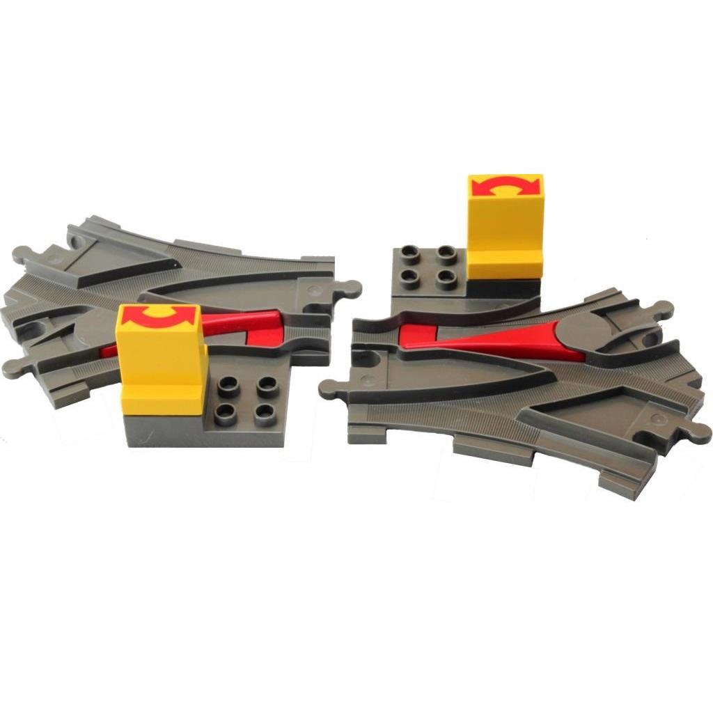 Lego Duplo 2736 Points Switching Tracks Dark Gray Decotoys