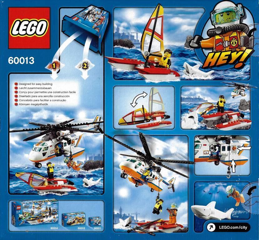 LEGO City 60013 - Coast Guard Helicopter - DECOTOYS