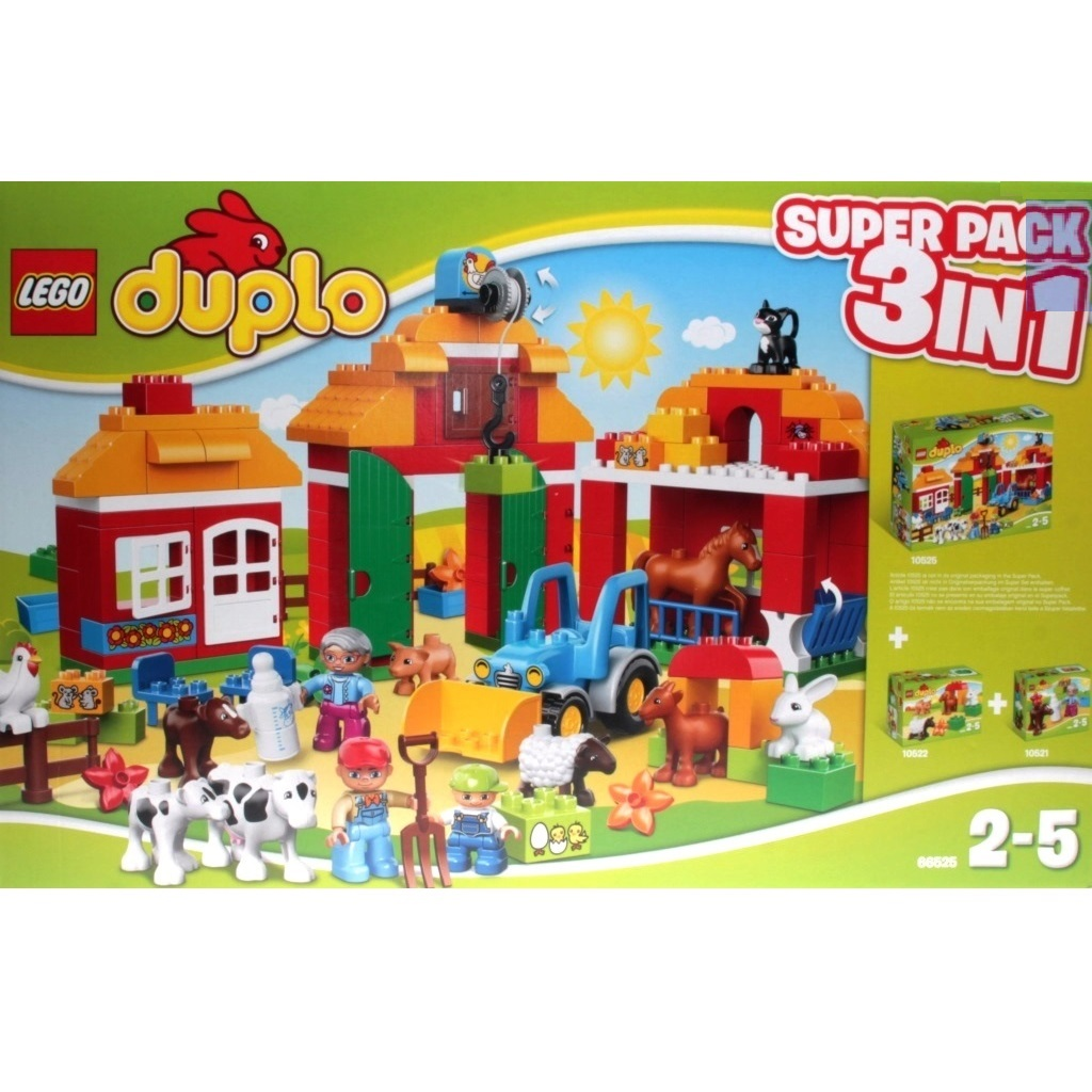 Lego Duplo 66525 Farm Value Pack 3 In1 Decotoys