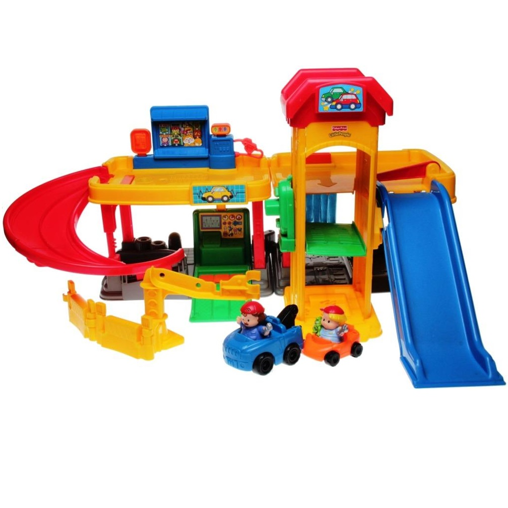 Fisher price little people b1832 a to z ramps around for Garage a persan