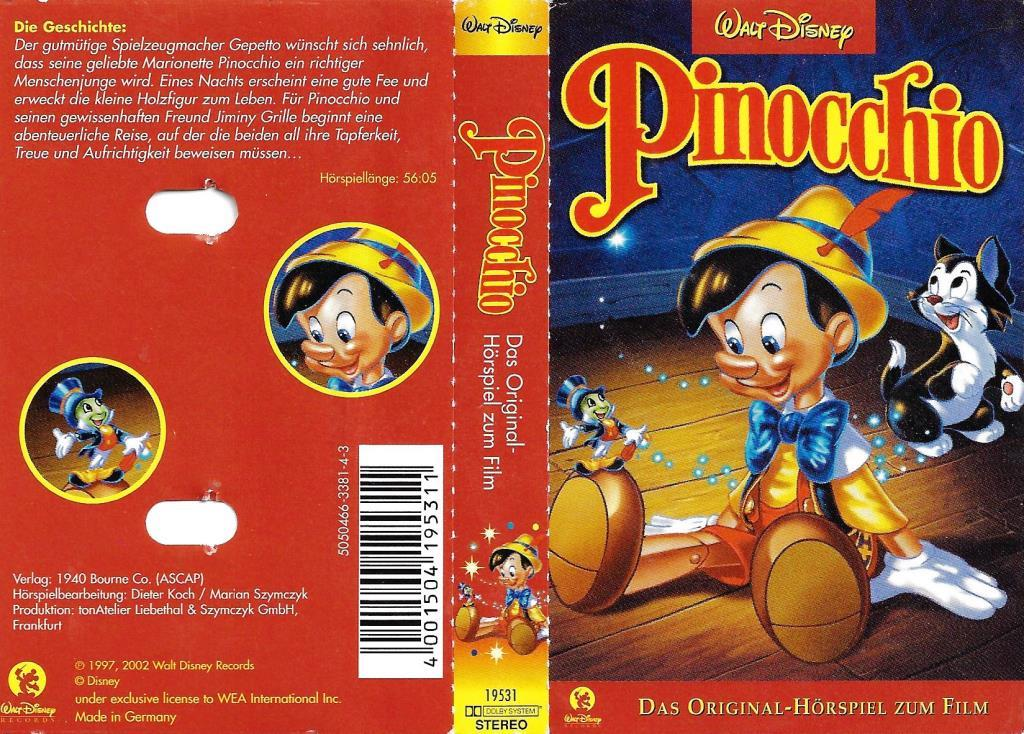 Mc Walt Disney Pinocchio Decotoys
