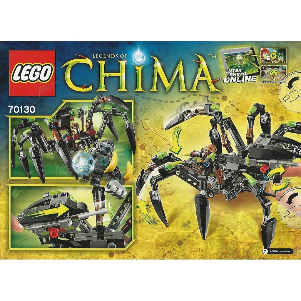 Sparratus Spinnen Decotoys Lego Chima 70130 Stalker PkZOXiu