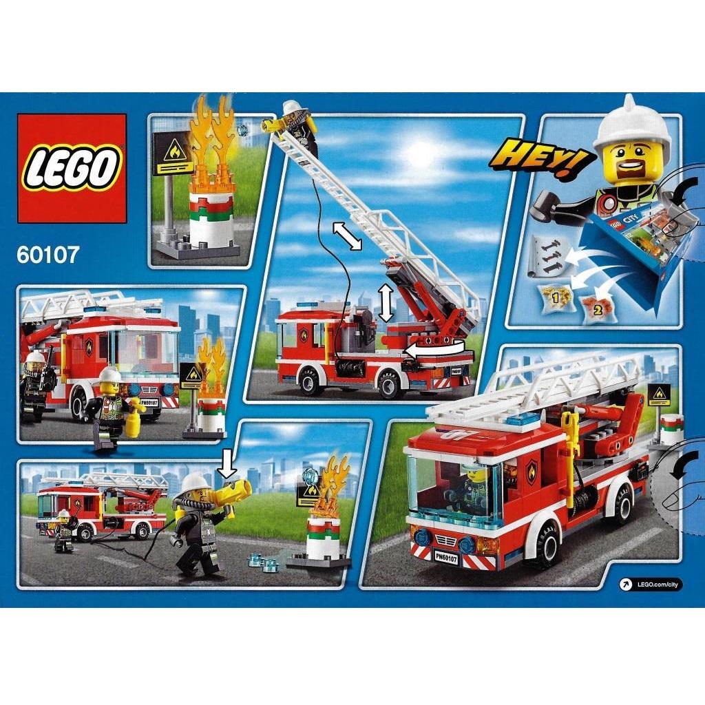 Lego City 60107 Fire Ladder Truck Decotoys