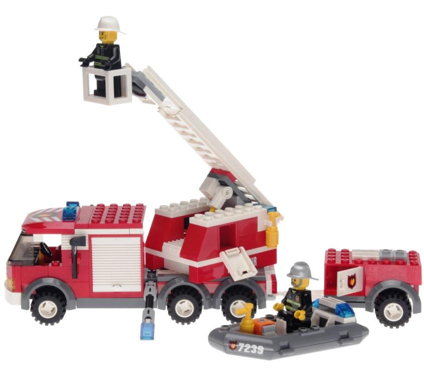 Lego City 7239 Fire Truck Decotoys