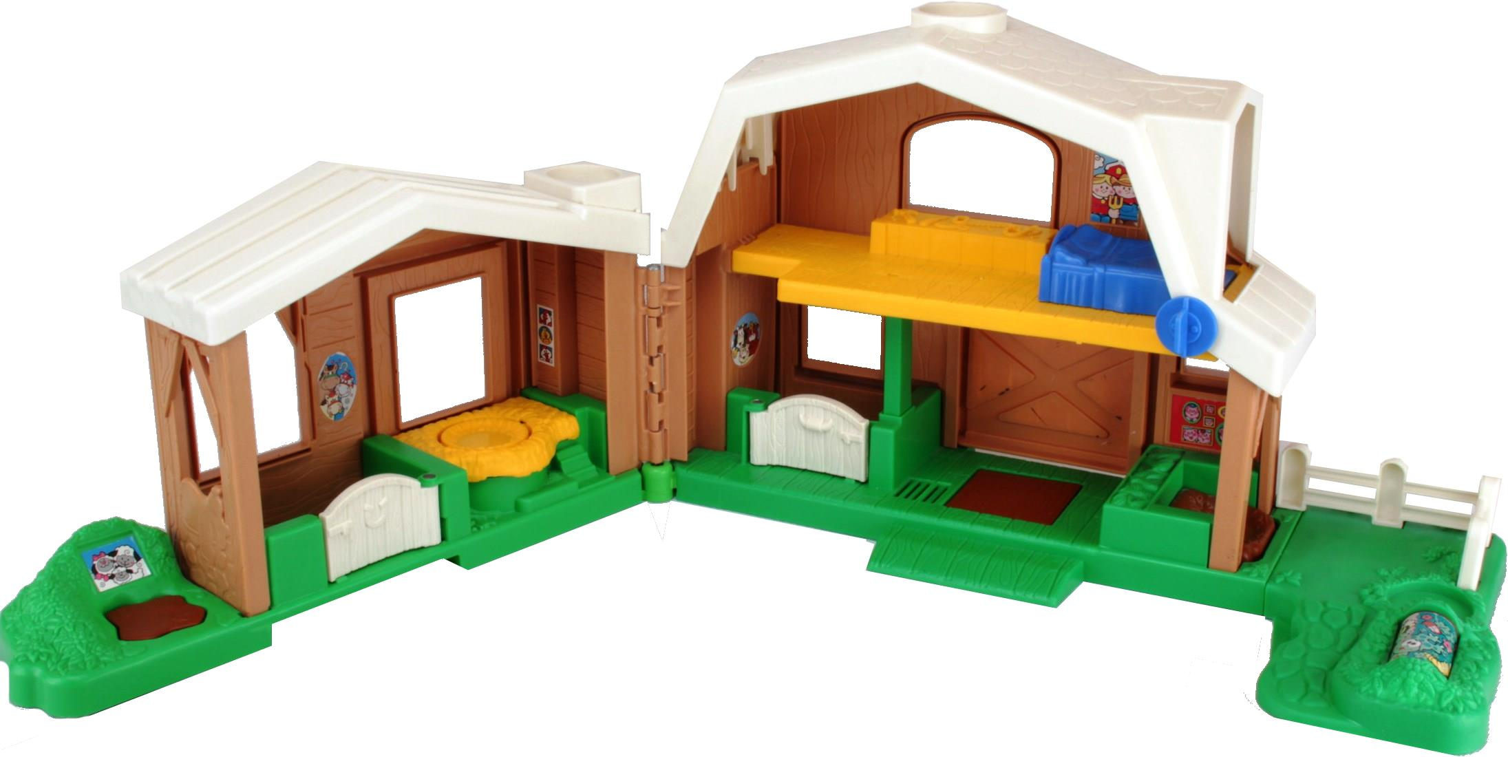 Fisher Price Little People 7746 Animal Sounds Farm Brown Decotoys