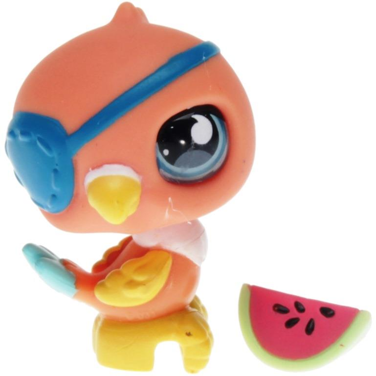 Littlest Pet Shop Singles 882 Pirate Parrot Decotoys