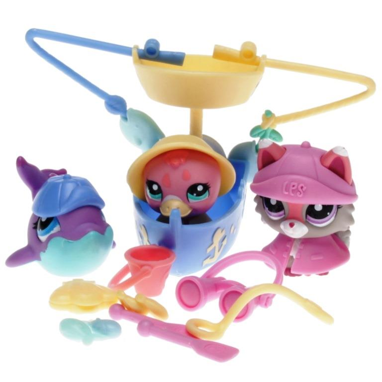 Littlest Pet Shop Swim N Fish 28289 1921 Cat 1922 Dolphin 1923