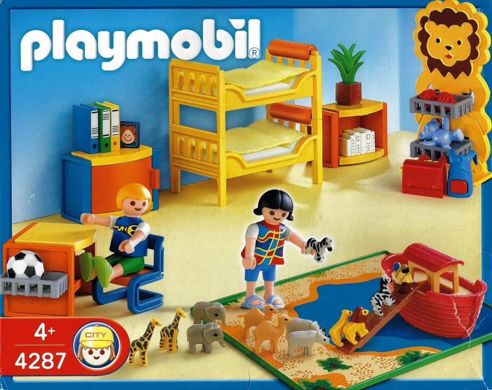Playmobil 4287 kinderspielzimmer decotoys for Playmobil kinderzimmer 4287