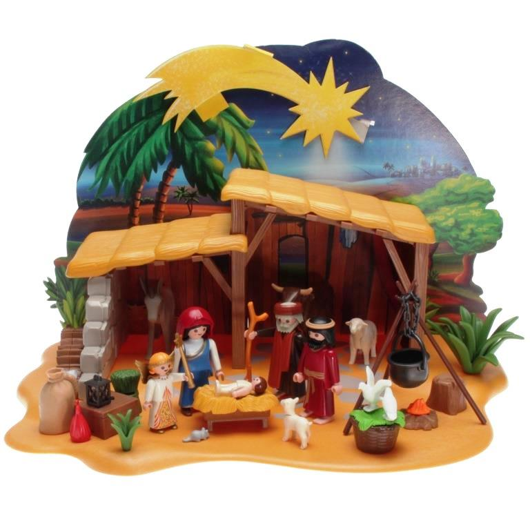 Weihnachtskrippe Playmobil.Playmobil 4884 Grosse Krippe Mit Stall Decotoys