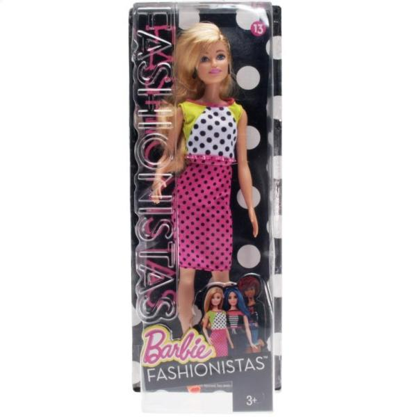 BARBIE - DGY54 Barbie Fashionistas Doll 13 Dolled Up in Dots - Original