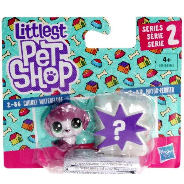 Littlest Pet Shop - Mini Pack E0945 - 2-86 Crunky Waterfluff, 2-87 Mayor Perrito