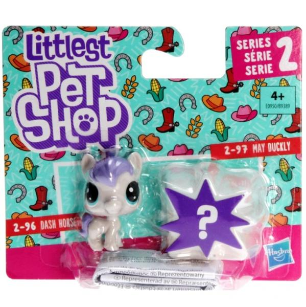 Littlest Pet Shop - Mini Pack E0950 - 2-96 Dash Horseton, 2-97 May Duckly