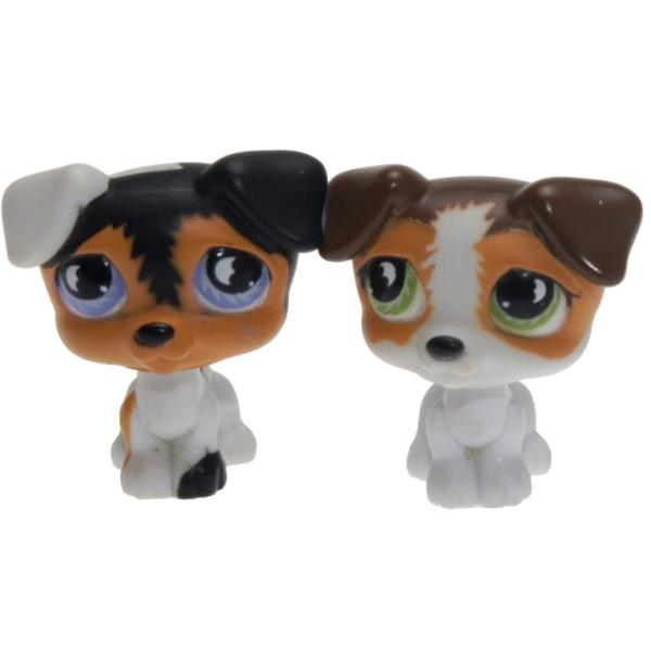 Littlest Pet Shop - Pet Pairs - 0803 Jack Russell, 0804 Jack Russell