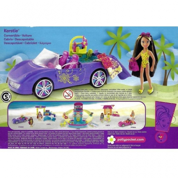 Polly Pocket M3845 - Kerstie Cabriolet