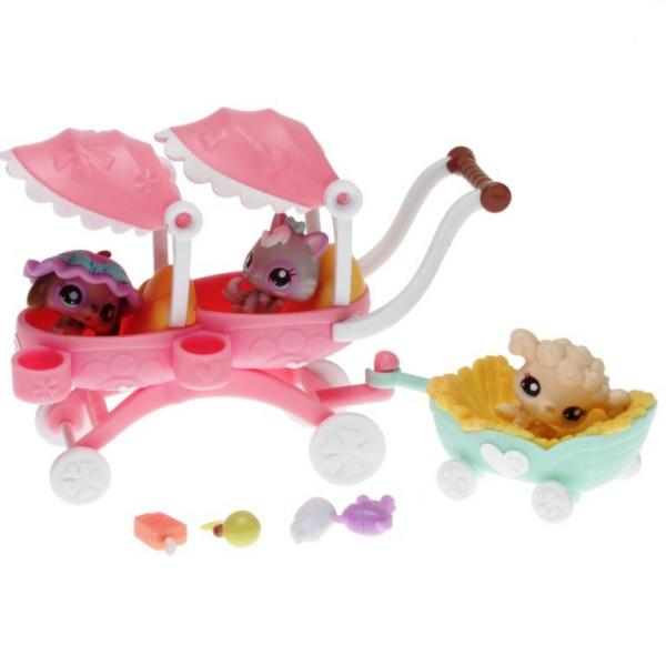 Littlest Pet Shop - Cutest Pets 38681 - Dachshund Puppy 2626, Kitten 2627, Puddle Baby 2628