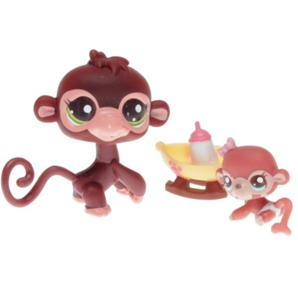 Littlest Pet Shop - Cutest Pets 38776 - Monkey 2670, Monkey Baby 2671