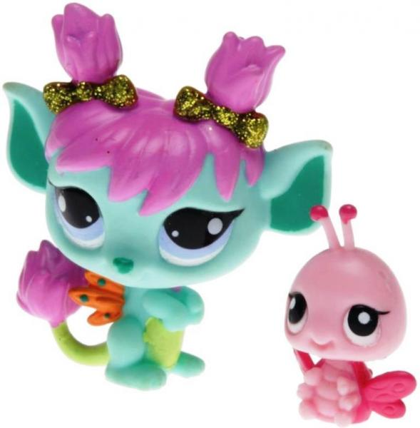 Littlest Pet Shop - Fairies - 38863 Glistening Garden - 2610, 2611