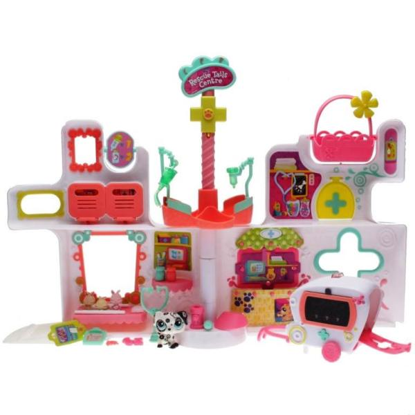 Littlest Pet Shop - Playset - 94482 Rescue Tails Center - 1613 Dalmatian