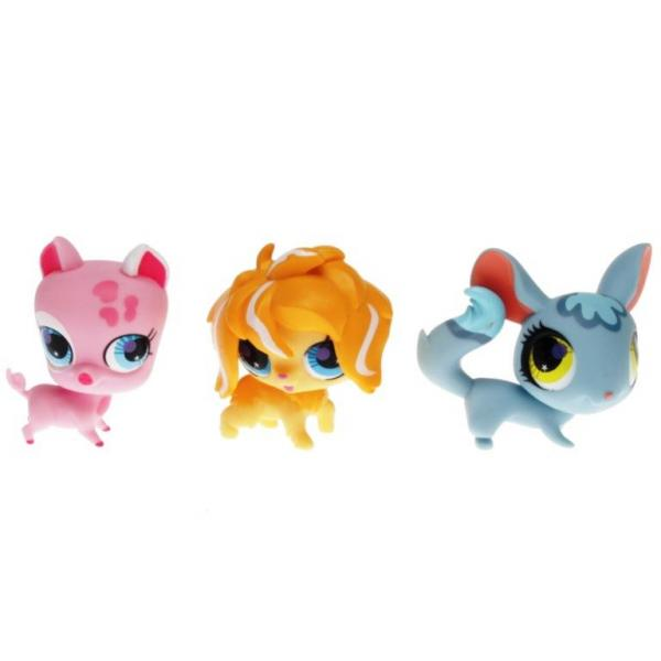 Littlest Pet Shop - Snowboarding Stars 55514 - Chinchilla 2765, Sheep 2766, Sheepdog 2767