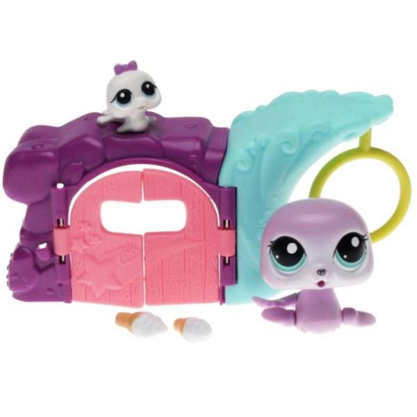 Littlest Pet Shop - Walkables - 2493 Mommy Seal, 2494 Seal Cub